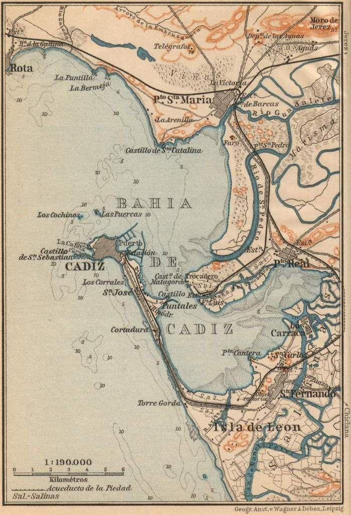 Bahía de Cádiz, Andalucía, España (con imágenes) | Mapas antiguos ...