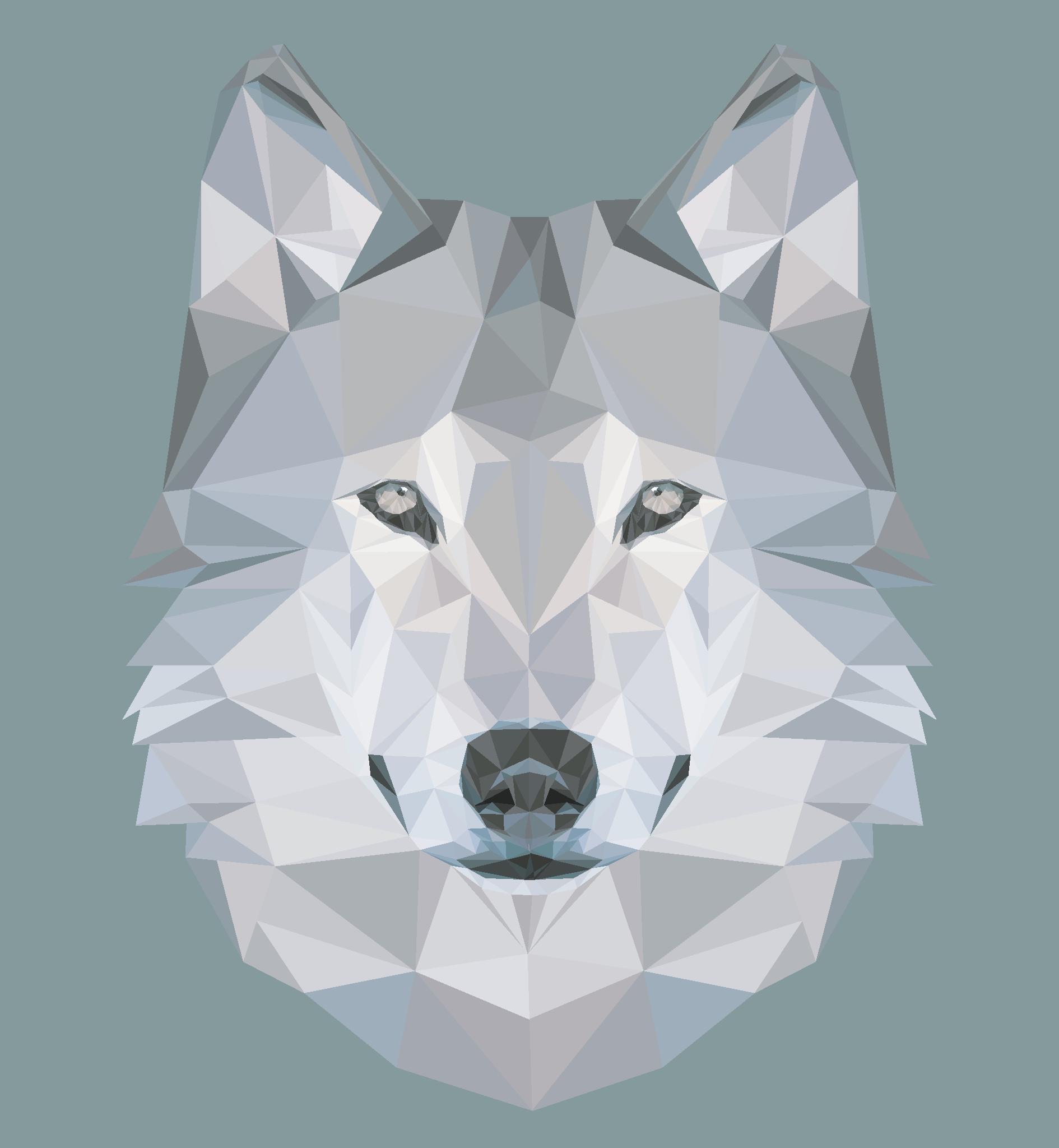 картинки волка из треугольников черногорские