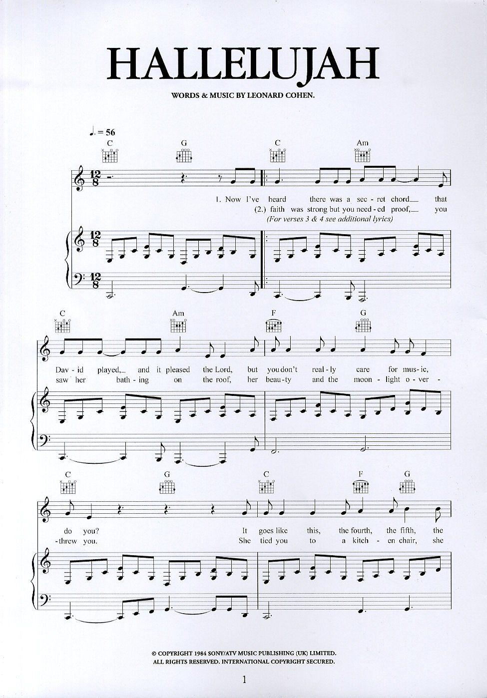 Guitar Chords Hallelujah Leonard Cohen Yeezy
