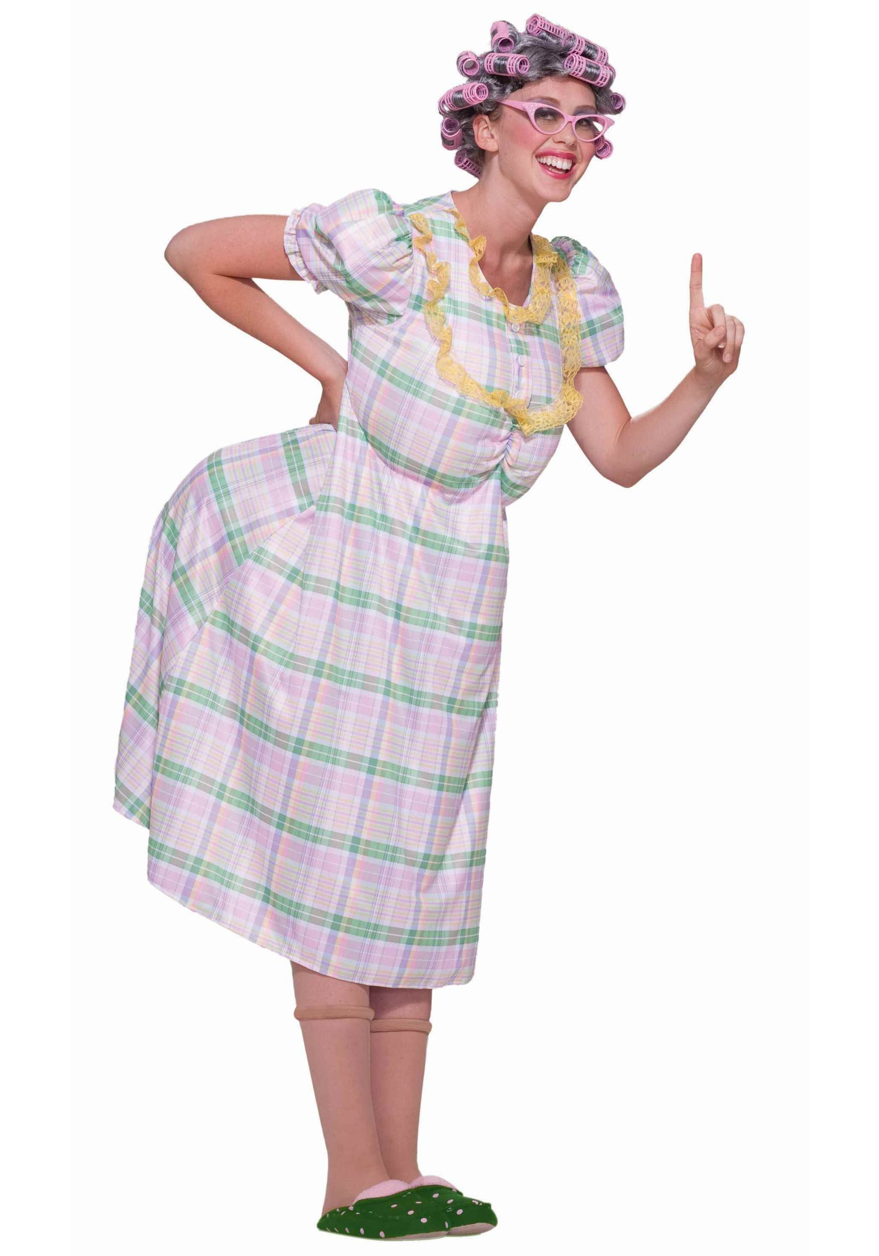 This would be a funny costume for Ian! Old lady costume