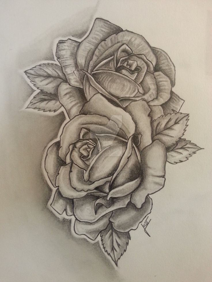 2 Roses Tattoodesign By Drawing Just Small Shoulder Tattoos Shoulder Tattoo Neck Tattoo