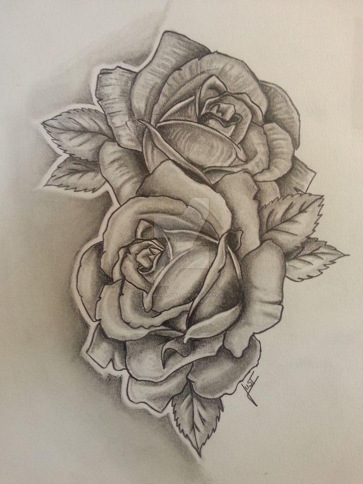 2 Roses Tattoo : roses, tattoo, Roses, Tattoodesign, Drawing-just, Small, Shoulder, Tattoos,, Tattoo,, Tattoo