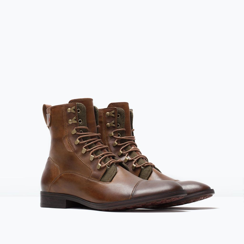 LACE-UP WORK BOOT-Boots and ankle boots-Shoes-MAN | ZARA