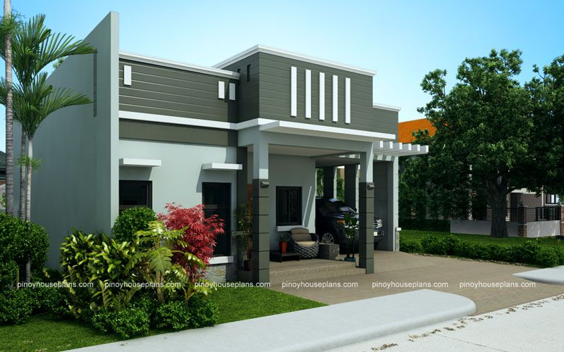 Edwardo Model Is A One Story Dream House Plan With Parapet Design Roof The Roof Composition Is St House Roof Design Bungalow House Design Bungalow House Plans