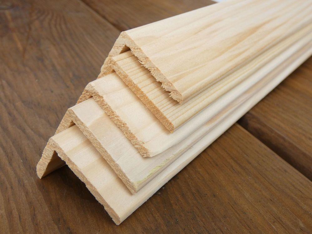 5 Winkelleisten Kiefer Fichte 28 X 44 Mm Lange 2000 Mm Kiefer Leisten Holzleisten