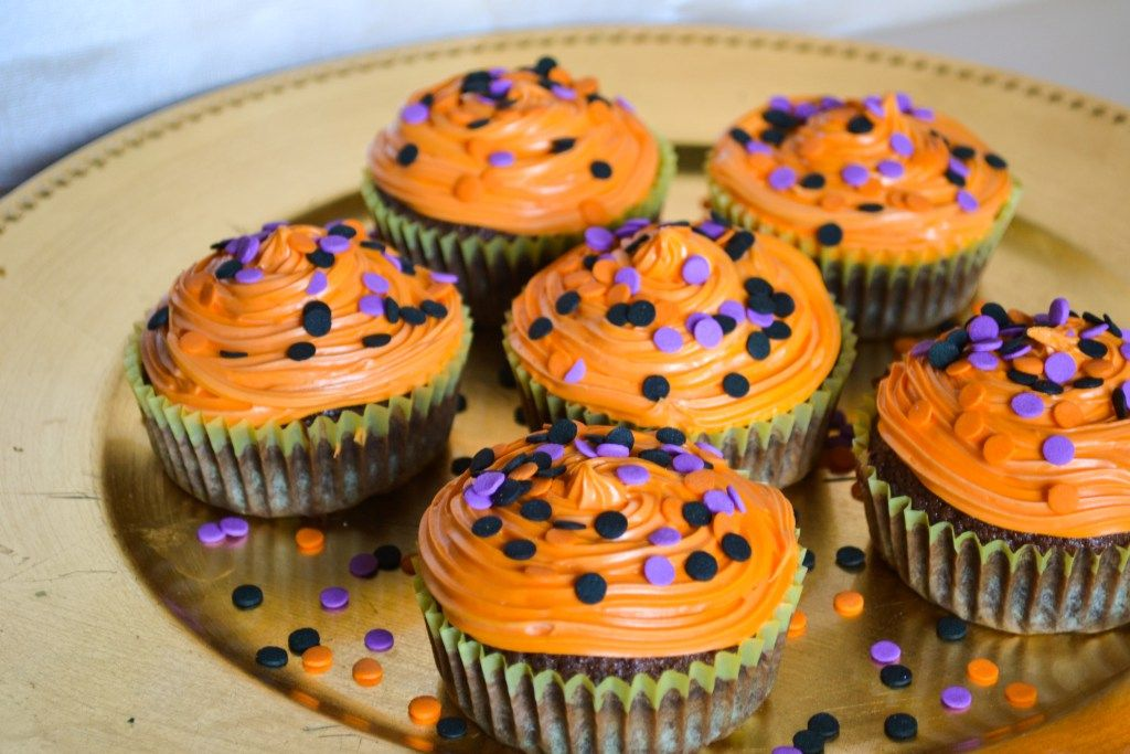My favorite chocolate cupcake recipe from DC Cupcakes with a little Halloween twist!!