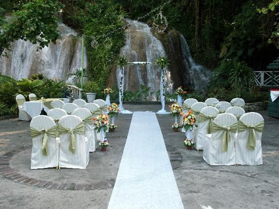 Waterfall Wedding At The Ruins Falls In Ocho Rios Just When I Said Wouldn T Want A Jamaican This Decor S To Me But Setting Like