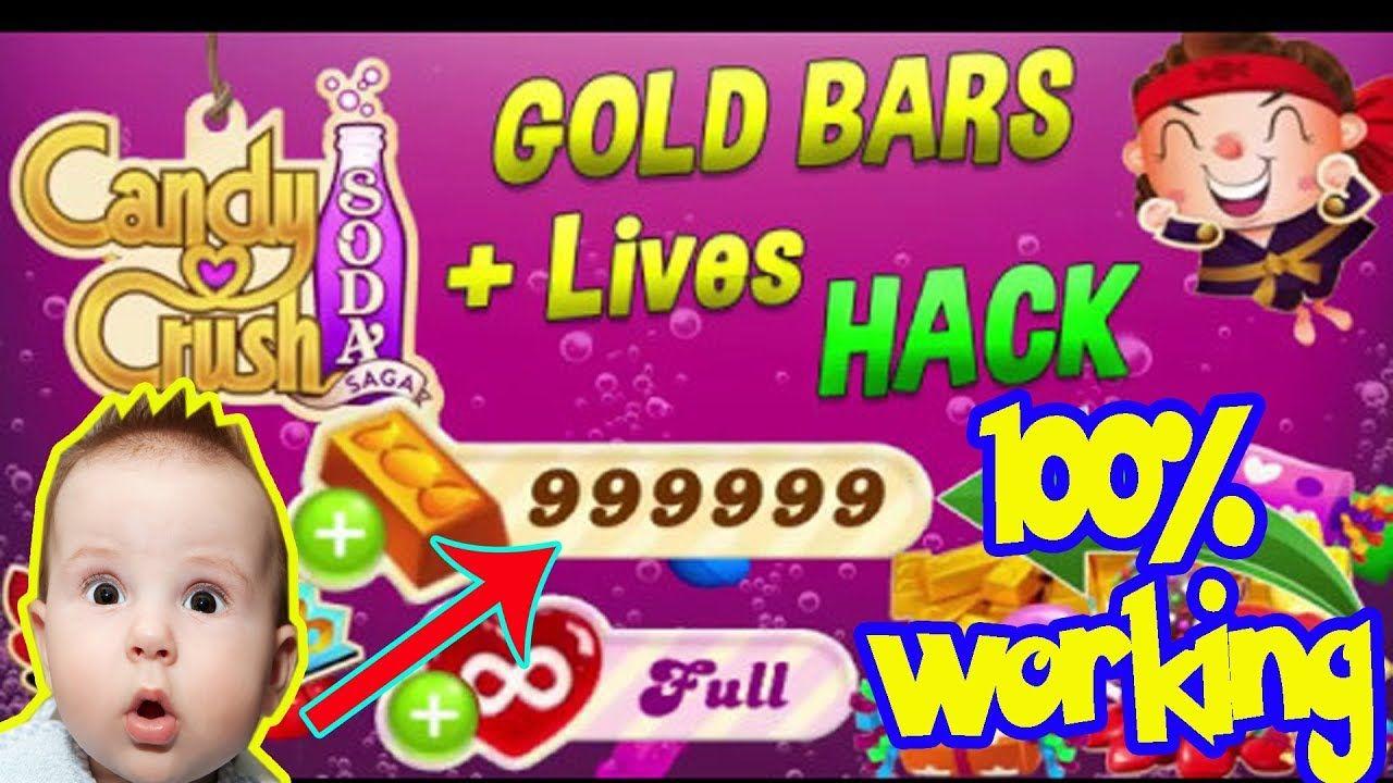 Candy Crush Soda Saga Hack 2018- Unlimited Gold bars,Lives