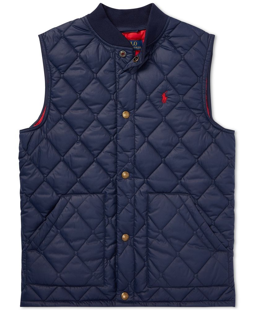 9d77d725c934 Polo Ralph Lauren Big Boys Quilted Baseball Vest  fashion  clothing ...