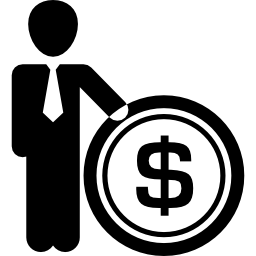 Businessman With Dollar Coin Free Vector Icons Designed By Freepik Business Icon Vector Icon Design Business Man