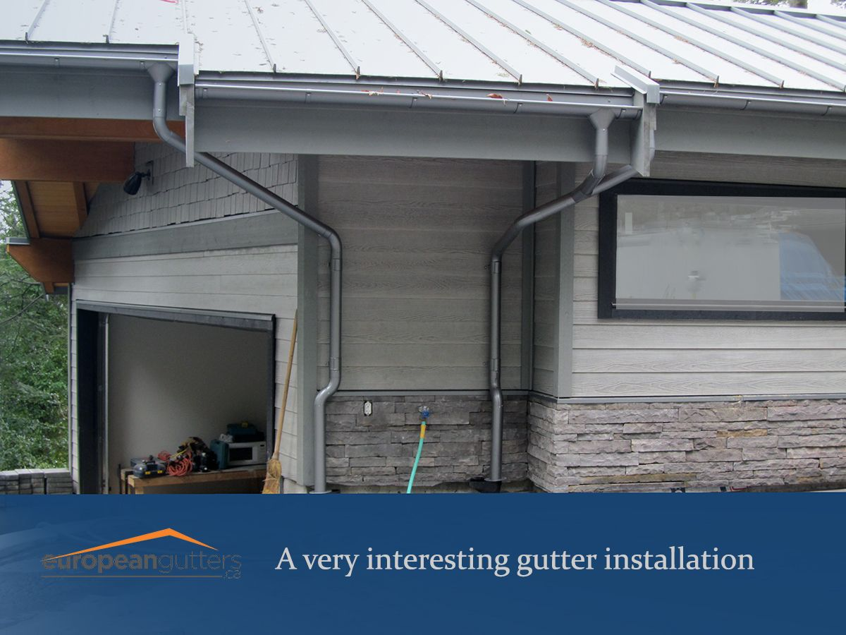 Lindab Rainline Installaion With A Lot Of Curves Gutters European Designs Outdoor Decor