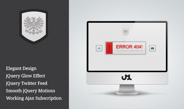Elegance 404 Html Template | 404 Not Found Page | Pinterest ...