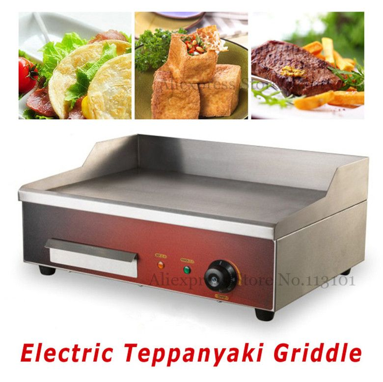 63cm Commercial Electric Griddle Flat Hotplate Kitchen Bbq Grill Stainless Steel Electric Griddle Best Outdoor Electric Grill Electric Grill