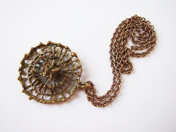 Modernista finlandés colgante de bronce con por tiendanordica