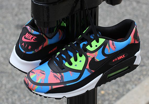 dirt cheap half off offer discounts Nike Air Max 90 Tape - Blue Hero - Flash Lime - Atomic Red ...