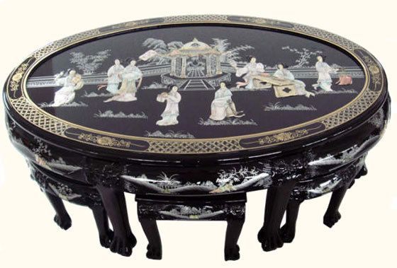chinese meditation oriental coffee table