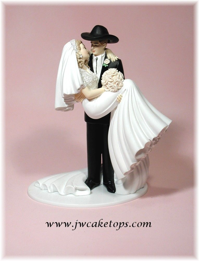western wedding cake toppers bride and groom western and groom wedding cake topper cowboy 27037