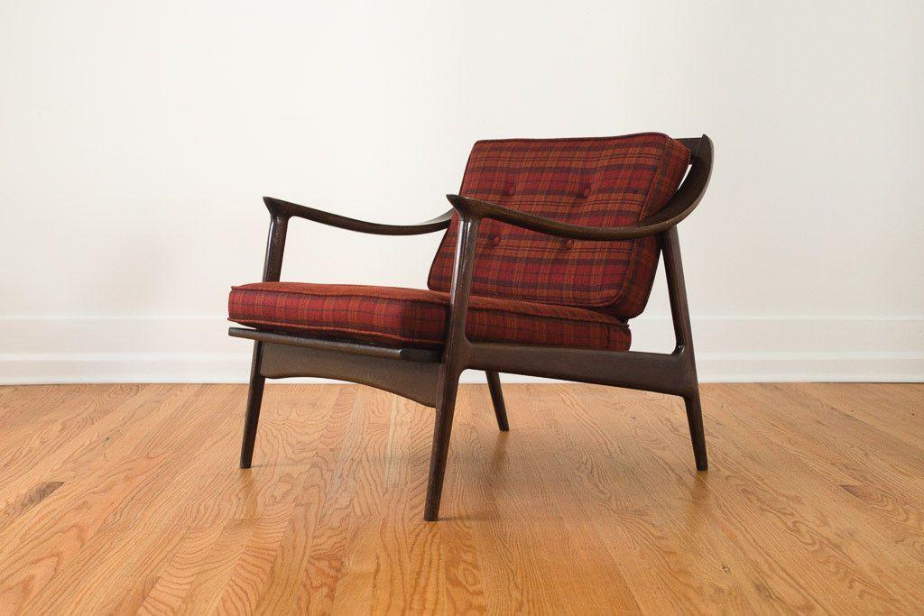 Wonderful MCM Plaid Yugoslavian Chair