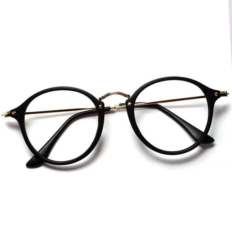 2016 Women Men Vintage Round Eyewear Frames Retro Optical Glasses ...