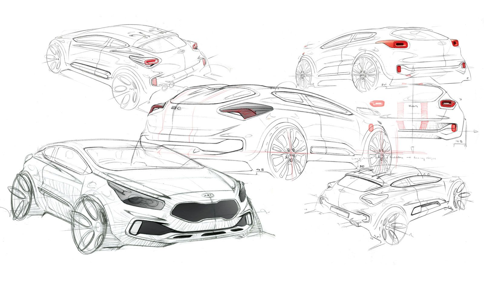 2012 Kia pro cee\'d - Design Sketch   sketches   Pinterest   Sketches ...