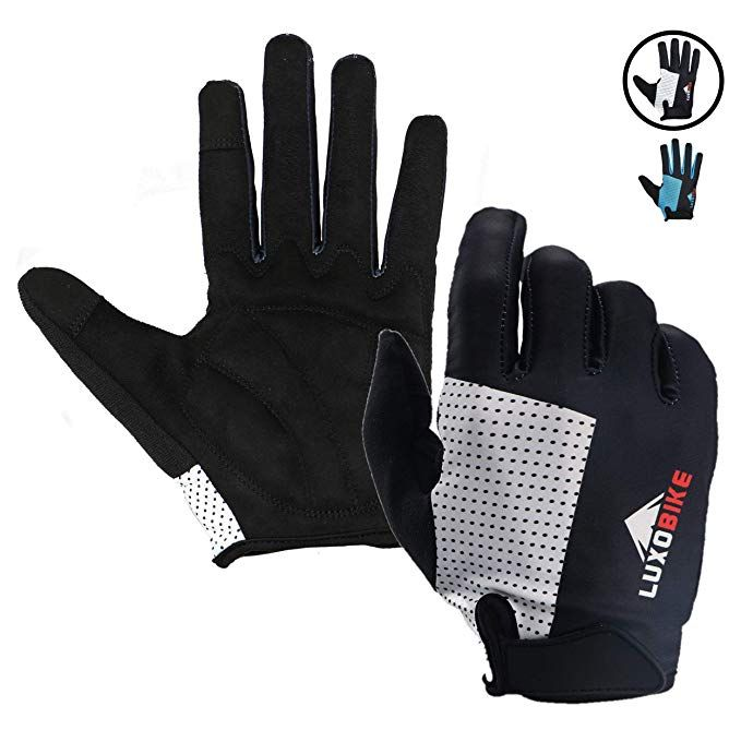 LuxoBike Cycling Gloves Bicycle Gloves Bicycling Gloves Mountain Bike Gloves  A