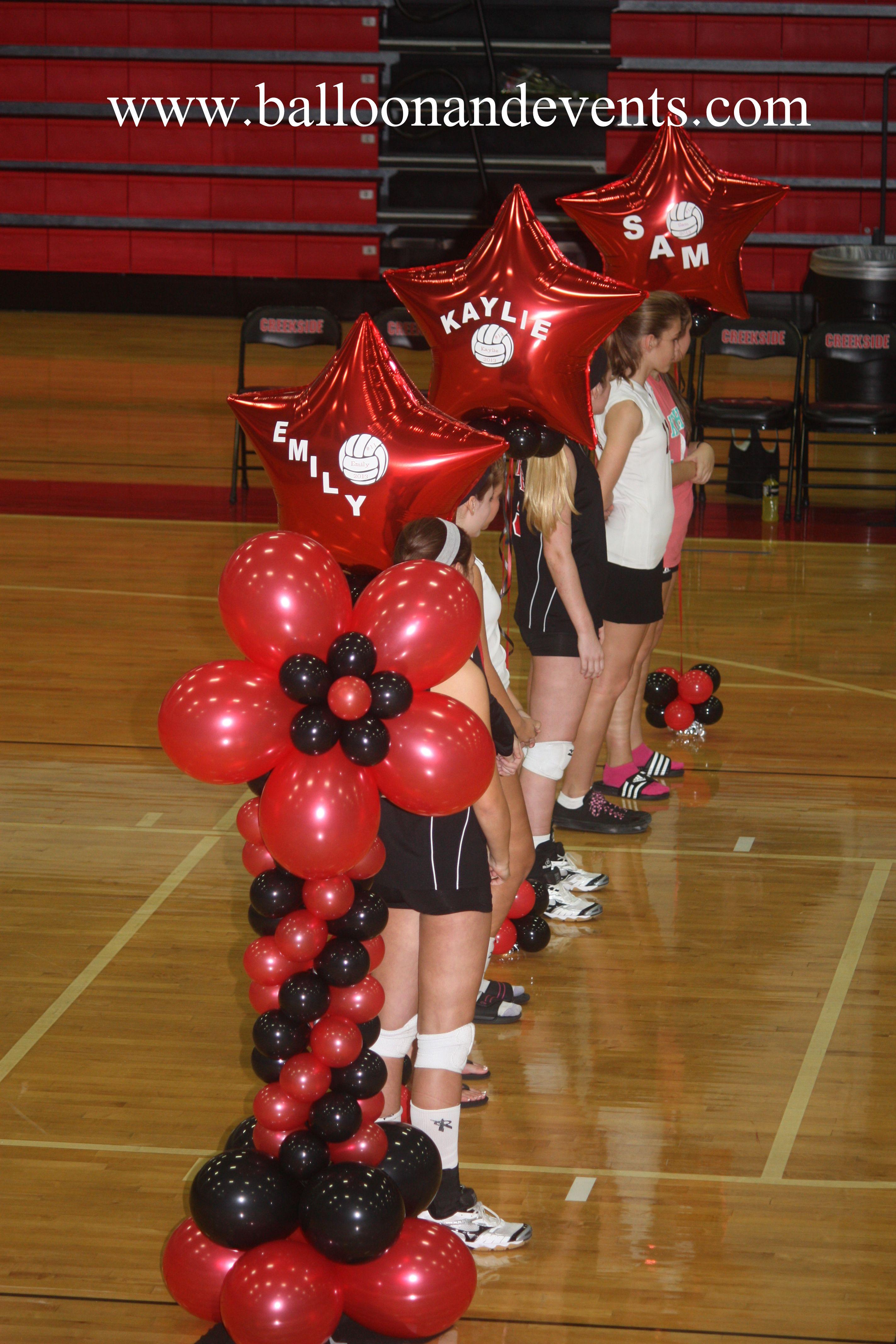 Balloon columns stars senior night columnsballoon