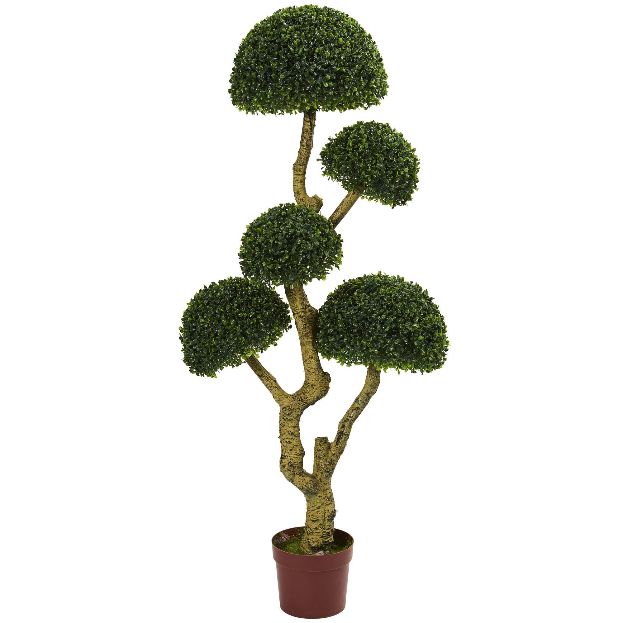Nearly natural u five head boxwood artificial tree uv resistant
