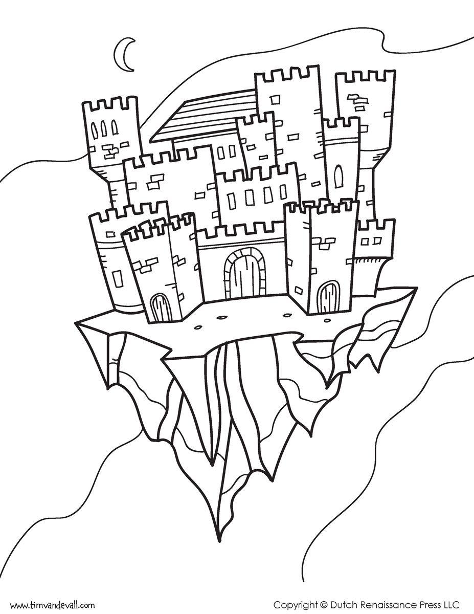 Castle-Coloring-Page-04.jpg (927×1200)   Раскраски 2   Pinterest