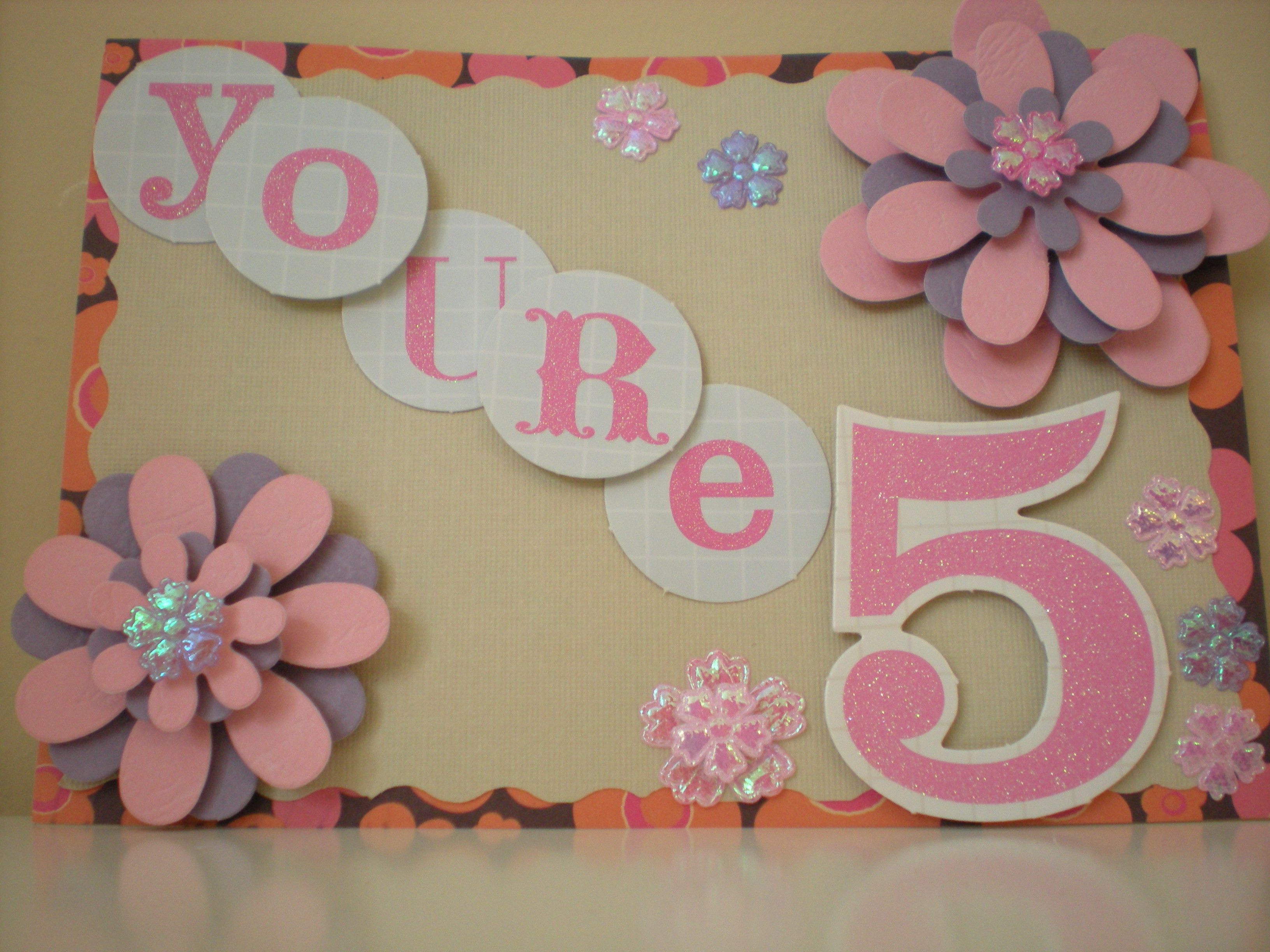 Homemade scrapbook ideas - My Diy Birthday Card For 5 Years Old