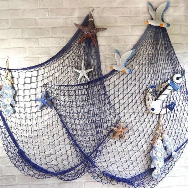 Photo of Nautical Style Fish Net Decor