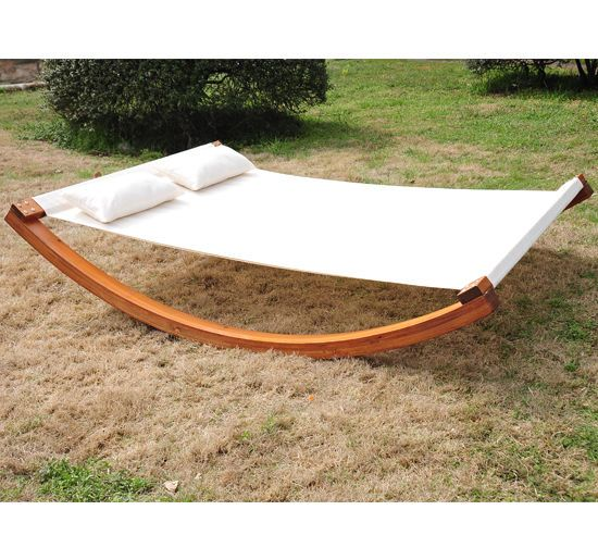 Outsunny Double Hammock Outdoor Garden Frame Swing Sun Lounger Beds Bed Canopy