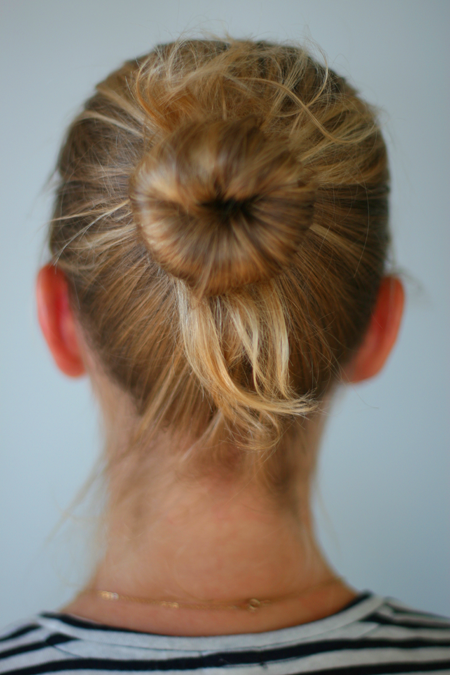 Sock Bun For Fine Hair