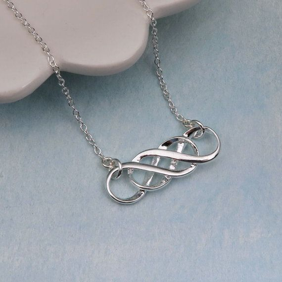 Our Handmade Silver Double Infinity Necklace Is A Great Gift For