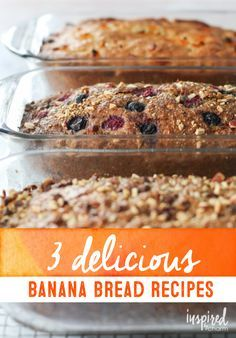 Classic banana bread recipe, reimagined in 3 delicious flavors thanks to @inspiredbycharm
