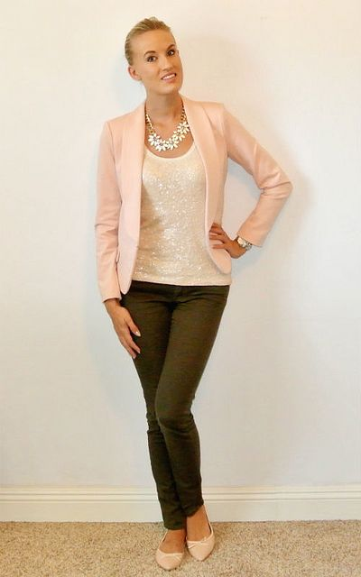 Outfit- blush pink and olive green 1  67f3ae891
