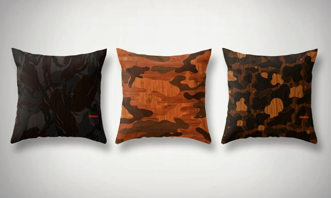 Woodgrain Camouflage iPhone Cases and Pillows   Cool Material