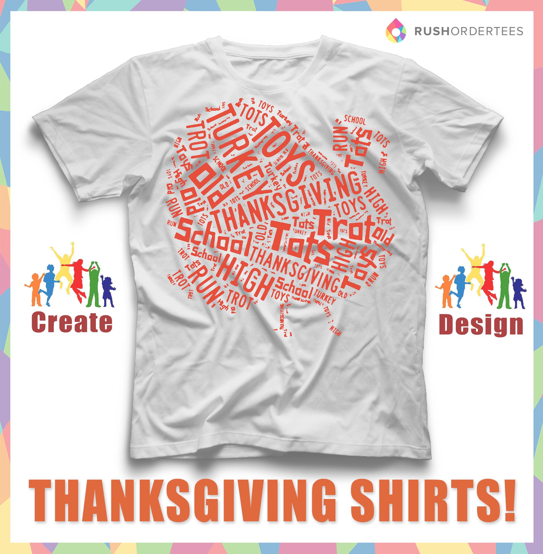 Creative Thanksgiving day custom t-shirt design idea! Create ...