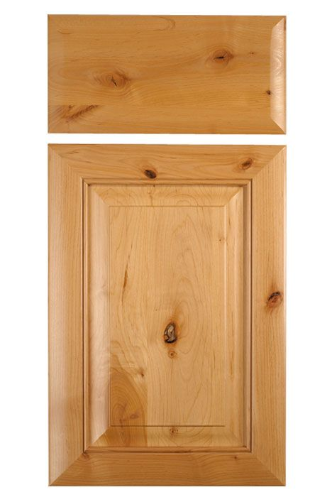 Mitered Cabinet Door In Knotty Alder Shown With M9 And Rp9 Profiles