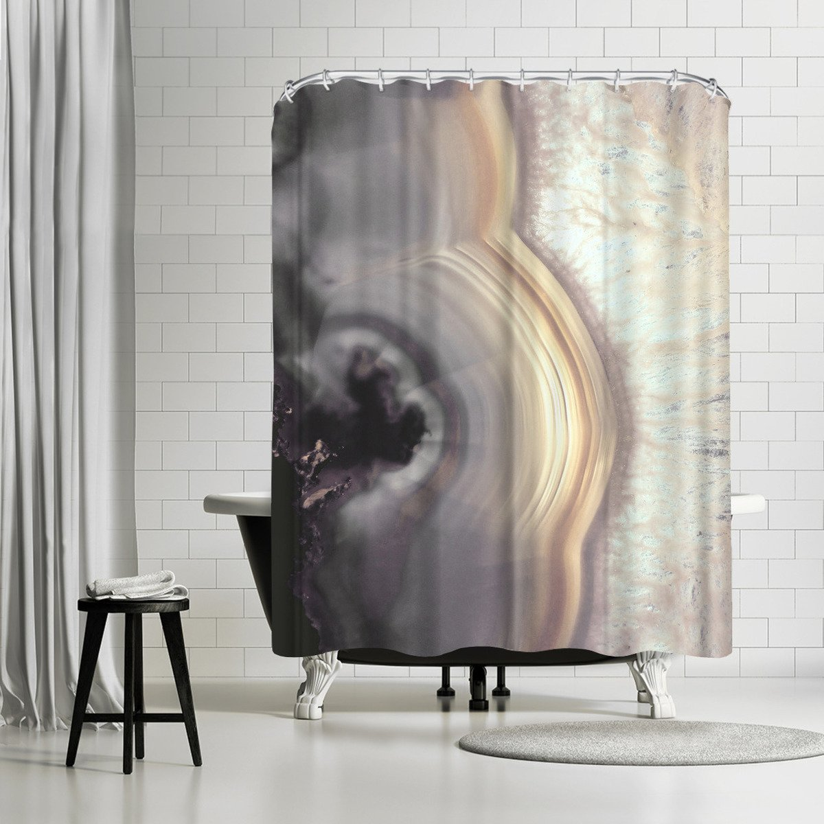 Taupe Agate By Emanuela Carratoni Shower Curtain Curtains