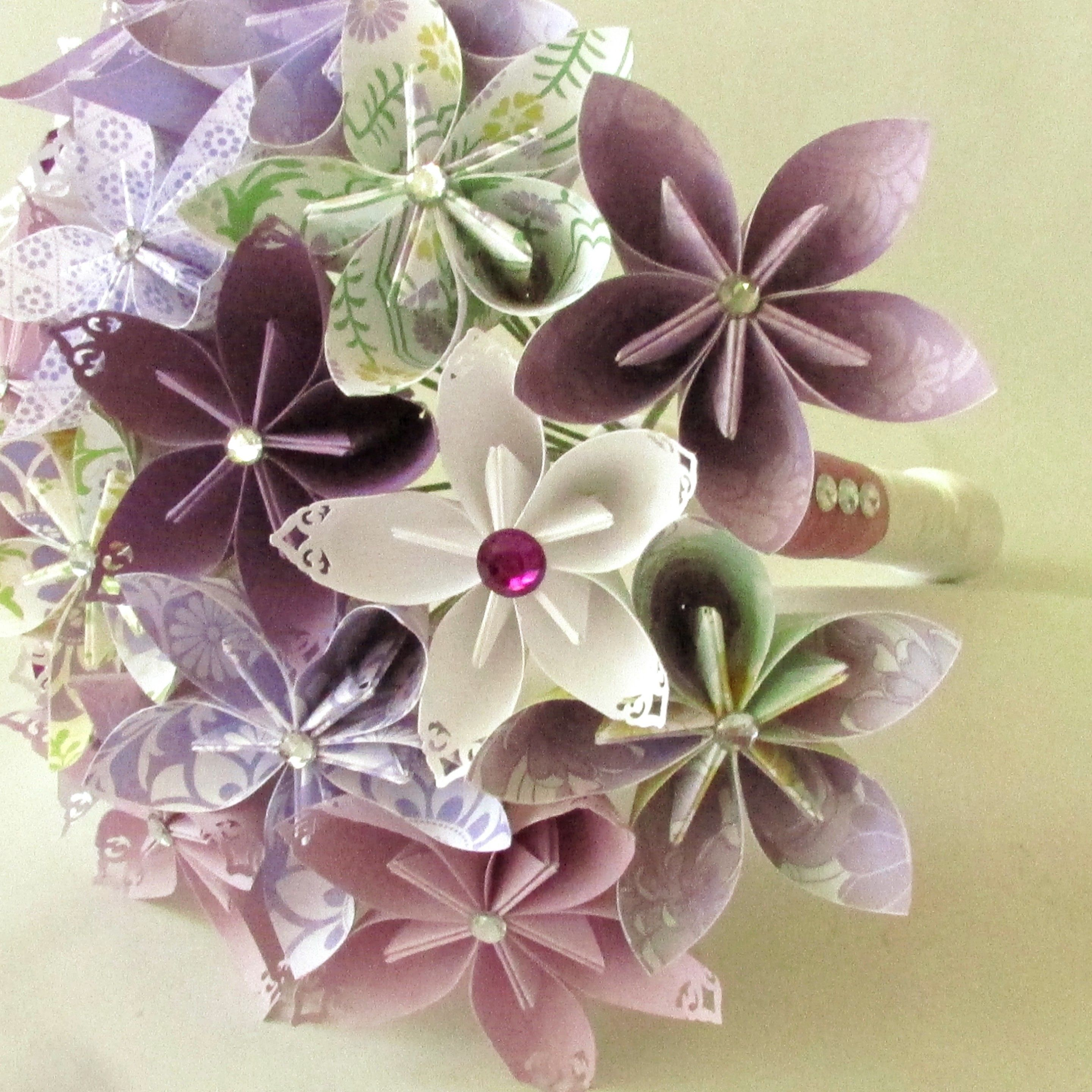 Paper flower bouquet - paper bouquet - purple bouquet - wedding ...