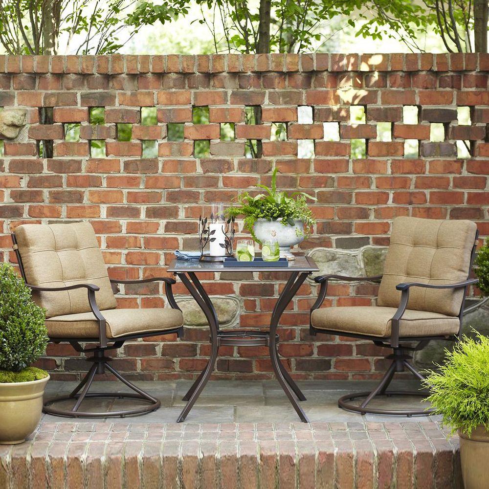 Garden Treasures Eastmoreland Brown 10-Piece Outdoor Bistro Set