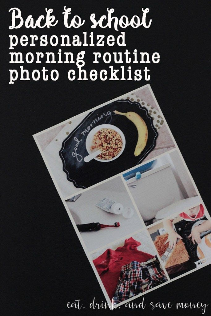 back to school personalized morning routine check list