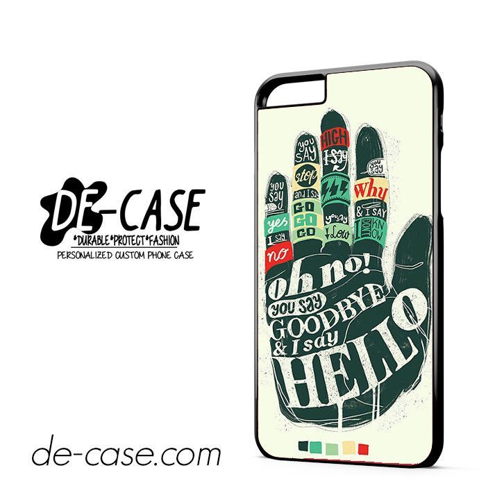 The Beatles Lyrics DEAL-10688 Apple Phonecase Cover For Iphone 6/ 6S Plus