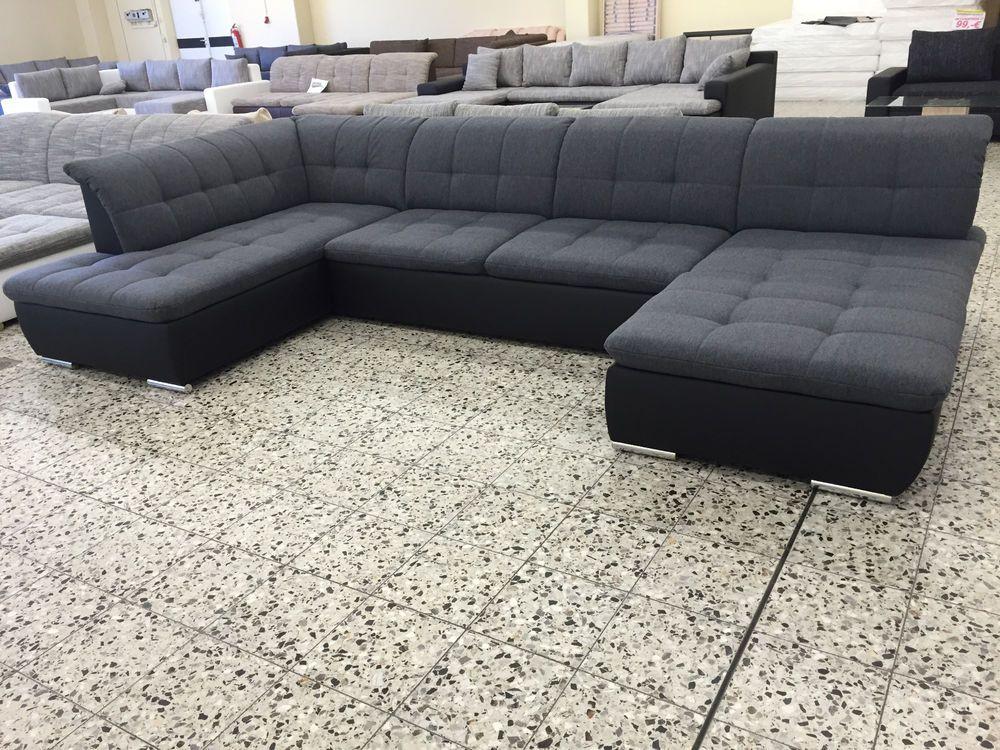 Big Sofa COuch Wohnlandschaft megasofa ottomane Li FINANZIERUNG ...