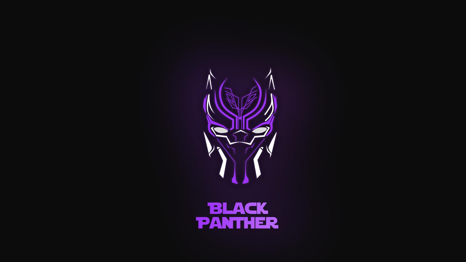 Download Wallpapers Of Black Panther Purple Dark Background Minimal Neon Hd 5k Creative Graphics Black Panther Hd Wallpaper Black Panther Neon Wallpaper