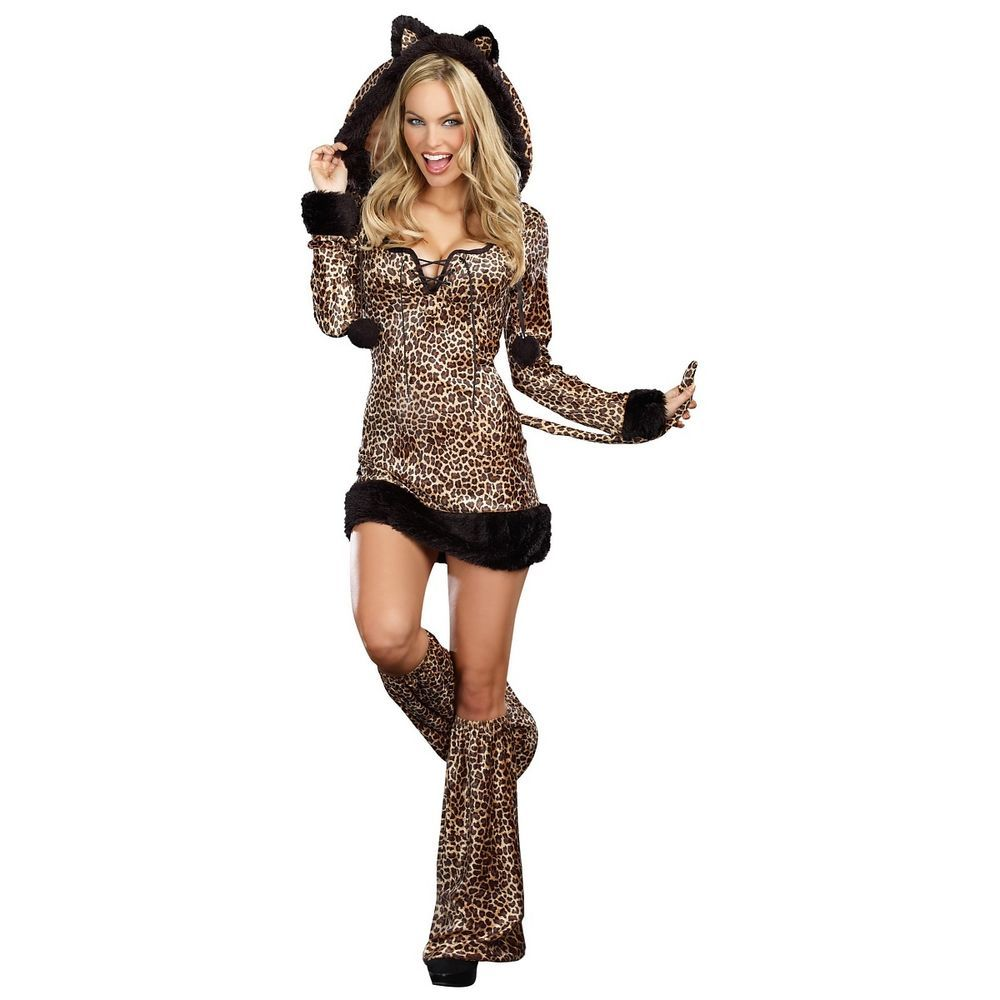 Leopard Costume Adult Sexy Cat Outfit Halloween Fancy Dress #Dreamgirl