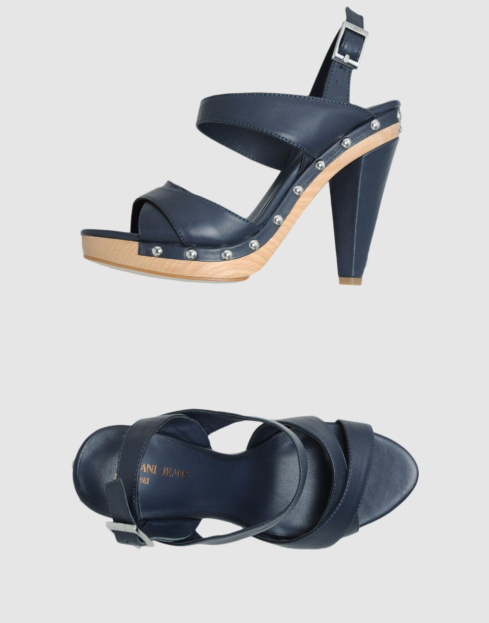 5c179aec5 Armani Jeans Platform Sandals in Blue