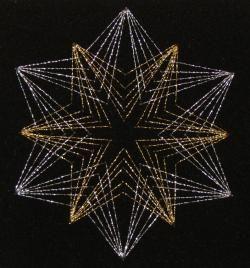 Weihnachstskarte mit stern gestickt