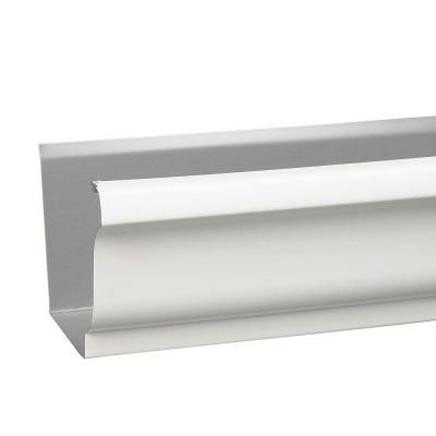 Amerimax Home Products 5 In White K Style Aluminum Gutter 2600600120 Galvanized Gutters Home Depot Lowes Home Improvements