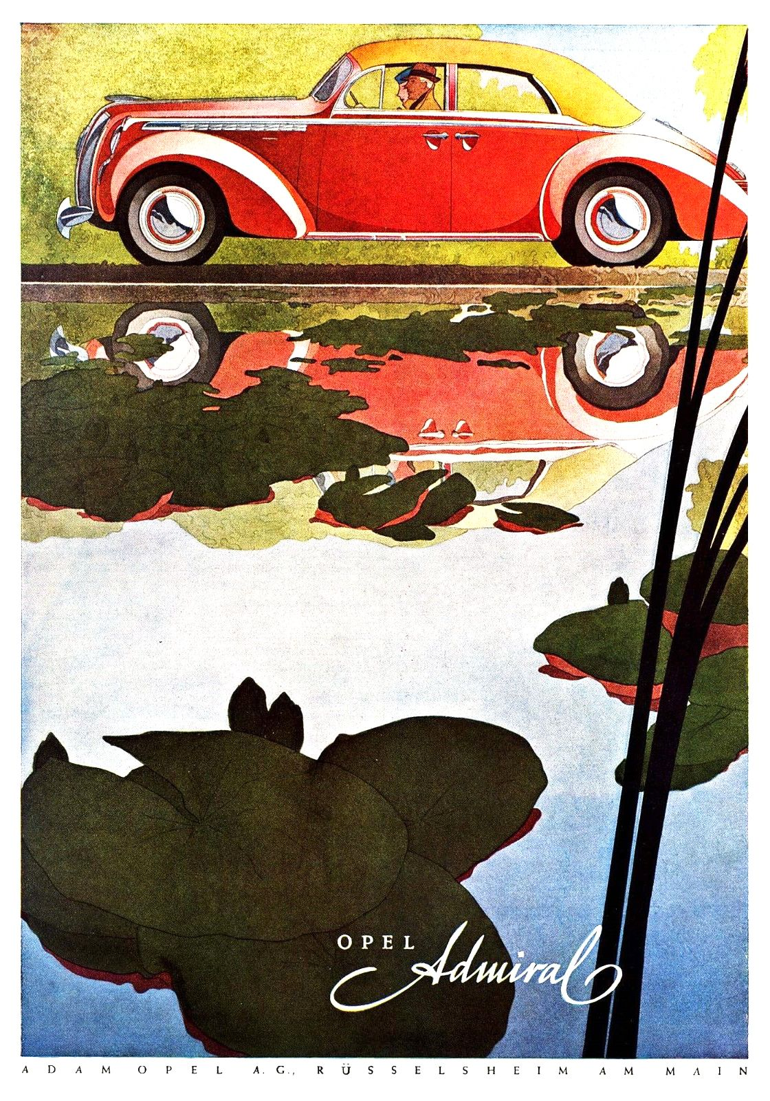 Fb Opel Admiral 1939 Advertising Art By Bernd Reuters Ad Art Opel Art